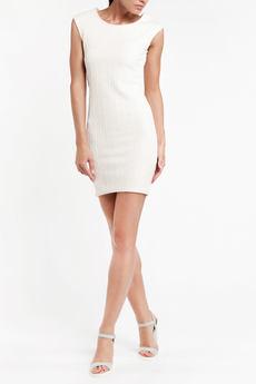 Белое платье без рукавов с фактурным рисунком TOM FARR