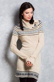 Вязаное платье свитер VIAGGIO со скидкой