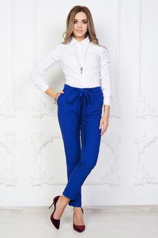 Синие брюки с высокой талией Angela Ricci