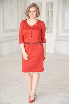 Платье терракотового цвета Angela Ricci со скидкой