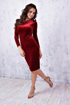 Бордовое бархатное платье Angela Ricci