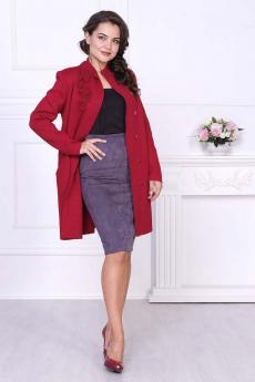 Новинка: вязаное бордовое пальто Злата