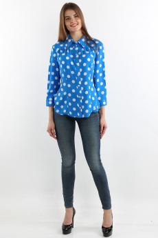 Синяя блузка в горох Bast